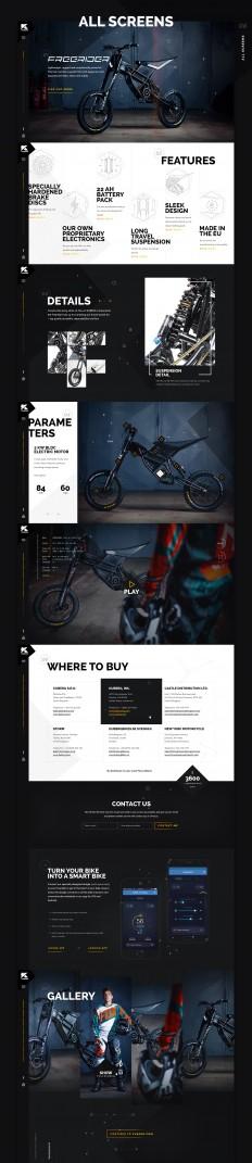 Kuberg – Free Rider website on