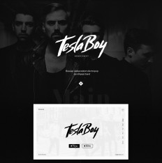 Tesla Boy - web site music group.Concept on