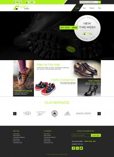 Cody Shoes - An Online Shoe Store PSD Template on