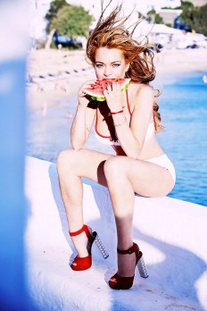 Lindsay Lohan by Ellen von Unwerth for Notofu