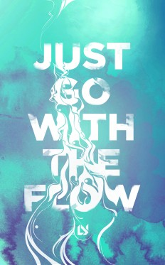 Flow – Typographic Poster on Inspirationde
