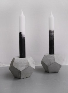 Concrete dodecahedron candleholder by frauklarer in Concrete stuff