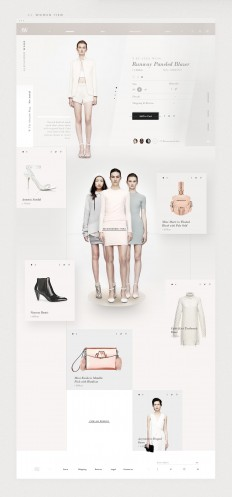 Alexander Wang - Fashion Website | Abduzeedo Design Inspiration