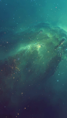 Green Starry iPhone 6 Wallpaper on Inspirationde
