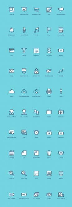 100 Free Web and App UI icons on