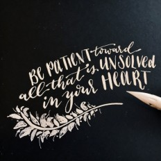 pureblyss - One of my very favorite quotes by Rainier Maria...