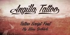 Angilla Tattoo - Aring Typeface