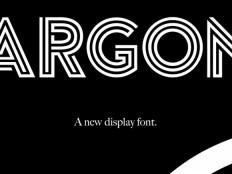 Argon free font - Freebiesbug
