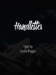 Handletter. Free Font. on