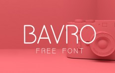 Free PSD Goodies and Mockups for Designers: BAVRO FREE FRESH FONT by Marcelo Reis Melo