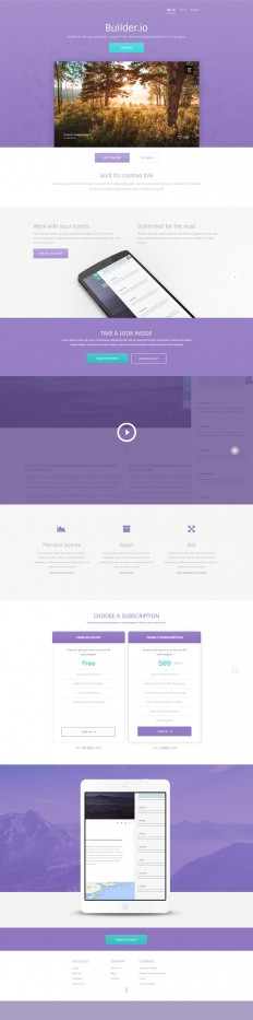 Builder - A free vibrant web app PSD template
