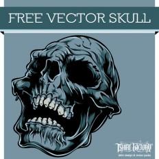 Free Vector Download Skull -T-Shirt Factory
