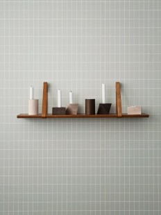 CUBE Oak candle holder by ferm LIVING