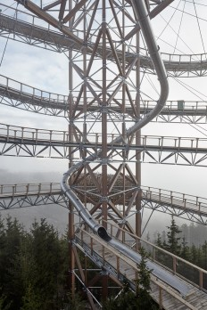 A Picturesque Mountaintop Skywalk in the Czech Republic with a 330 Foot Slide Down | Colossal