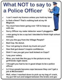 What not to say to a Police officer | LOL Daily Fun