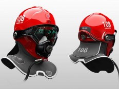 C-Thru is a helmet that is designed to help firefighter walk through dense smoke during smoke diving search and rescue missions - designed by Omer… | Pinteres…