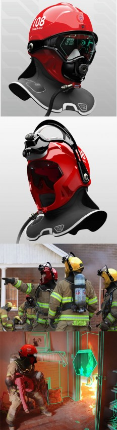 C-Thru: Helmet Enables Firefighters To See Through Smoke... this is soo wicked! | PRODUCT | Pinterest | Firefighters, Helmets and Tecnologia