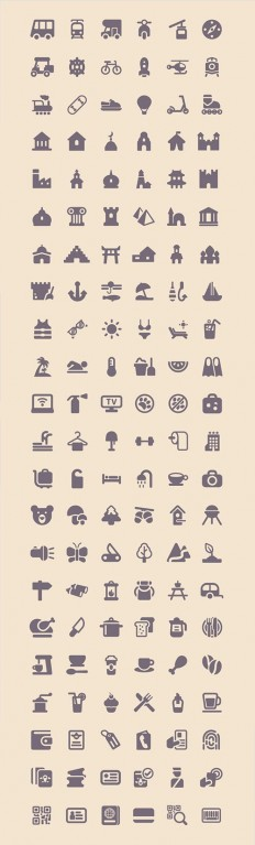 Freebie: Tourism & Travel Icon Set (100 Icons, PNG, SVG) – Smashing Magazine