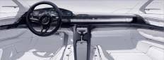 Felix Godard - Porsche Mission E Concept interior - Allthesketches.com