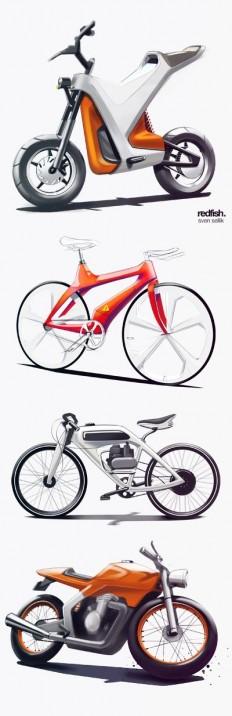 Digital, render, color | INSPIRATION | Pinterest | Sketches, Cool Stuff and Bike Sketch