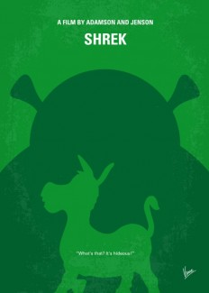 No280 My SHREK minimal movie poster Art Print by Chungkong | Society6