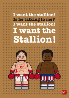 My rocky lego dialogue poster Art Print by Chungkong | Society6