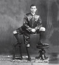 Malady / Francesco Lentini, Three- Legged Man, born 1889 in Rosolini, province of Sirocusa, Sicily as one of twelve children. His twin brother, who consisted of a leg and a set of genitals, was born attached to Francesco's spine.