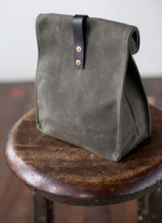 Waxed Canvas Lunch Tote by Artifact Bag Co. - American Handmade