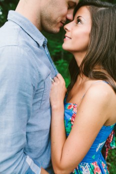 Fun, Dreamy, Gorgeous Creek and Meadow Engagement Shoot