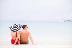 Chic, Fun, Romantic Tropical Destination Engagement Shoot