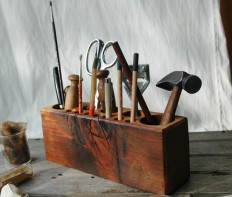 Desk Caddy Wooden Tool Organizer   Cool Material