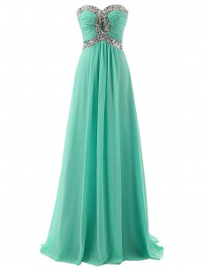 Erosebridal Chiffon Evening Dress Prom Gown Mint Green Crystal Beaded | Amazon.com