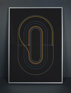 Minimalist Graphic Cycling Posters by Graphical House | Posters + | Pinterest