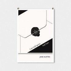 Literary Art Print Jane Austen Large Wall Art by ObviousState