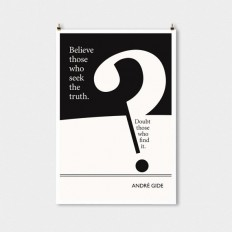 Literary Art Print Andre Gide Large Wall Art by ObviousState