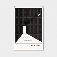 Literary Quotes Poster Franz Kafka Quote Black and by ObviousState