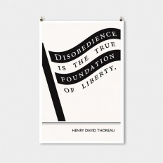 Literary art prints Henry David Thoreau Quote by ObviousState
