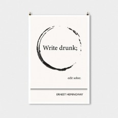 Literary Art Print Ernest Hemingway Large Wall Art by ObviousState