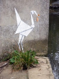 Banksy Does Origami | Colossal