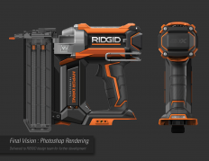 RIDGID 18v HyperDrive Nailers : Vision on