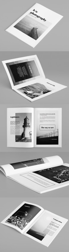 Minimal Photography Portfolio Brochure on