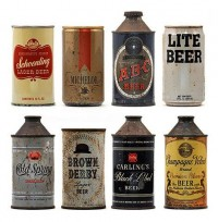Vintage Packaging - Beer Cans