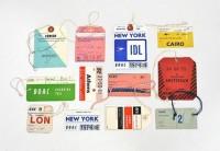 Designspiration — FFFFOUND! | 20x200 - Print Information | Day 256: Vintage Airline Tags, by LisaCongdon