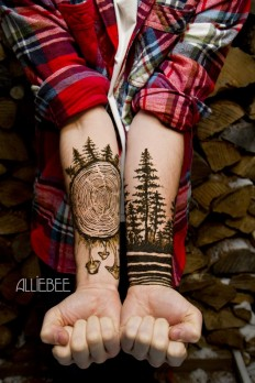 A gorgeous henna creation on Inspirationde