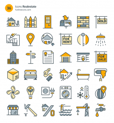 Freebie: Home Appliance And Real Estate Icons (72 Icons, AI, CSH, EPS, SVG, Webfont, Sketch) – Smashing Magazine