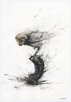 Explosive Splattered Ink Animal Paintings by Hua Tunan on Inspirationde