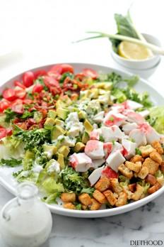 Bacon, Crab and Avocado Salad Recipe | Diethood