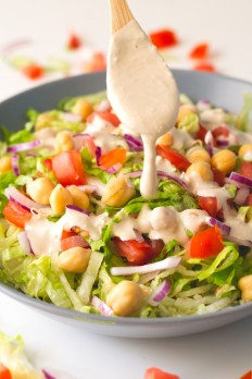 Salad with Tahini Dressing   Dance Stoves