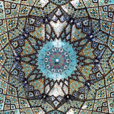 Stunning Interior Details of Iranian Mosque Ceilings