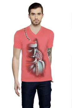 Hand-painted Eternal Shiva Coral T-shirt – Rang Rage
